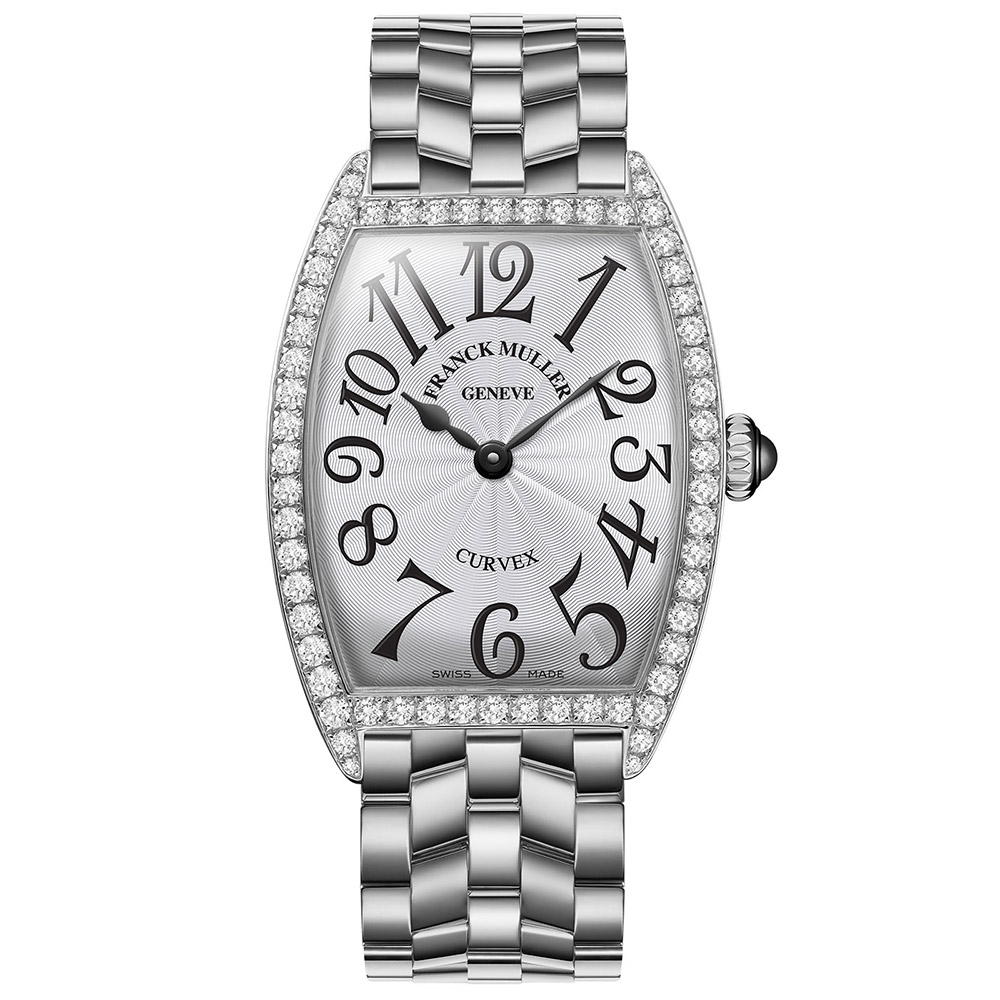 Stainless Steel Franck Muller Cintree Curvex with Diamonds