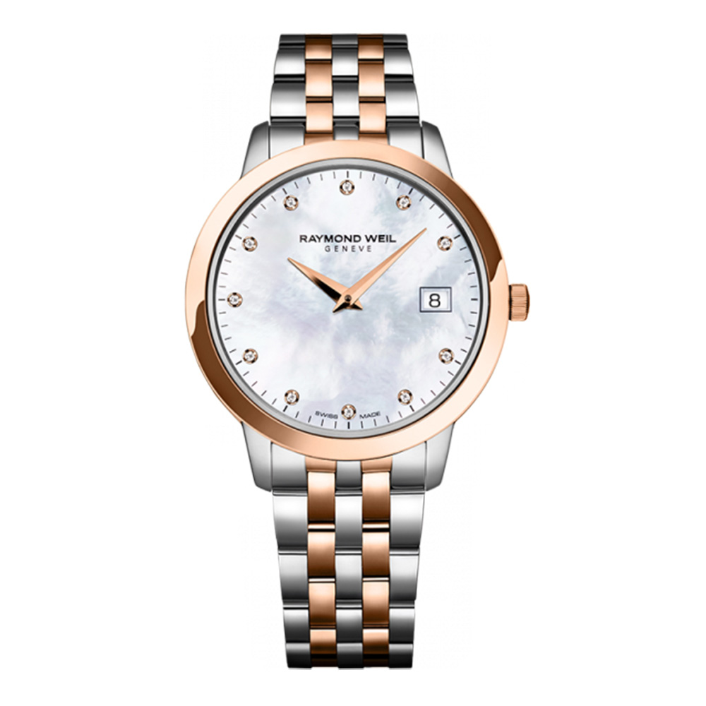 Raymond Weil Toccata Mother of Pearl Dial SS Quartz Ladies Watch 5388-SPS-97081