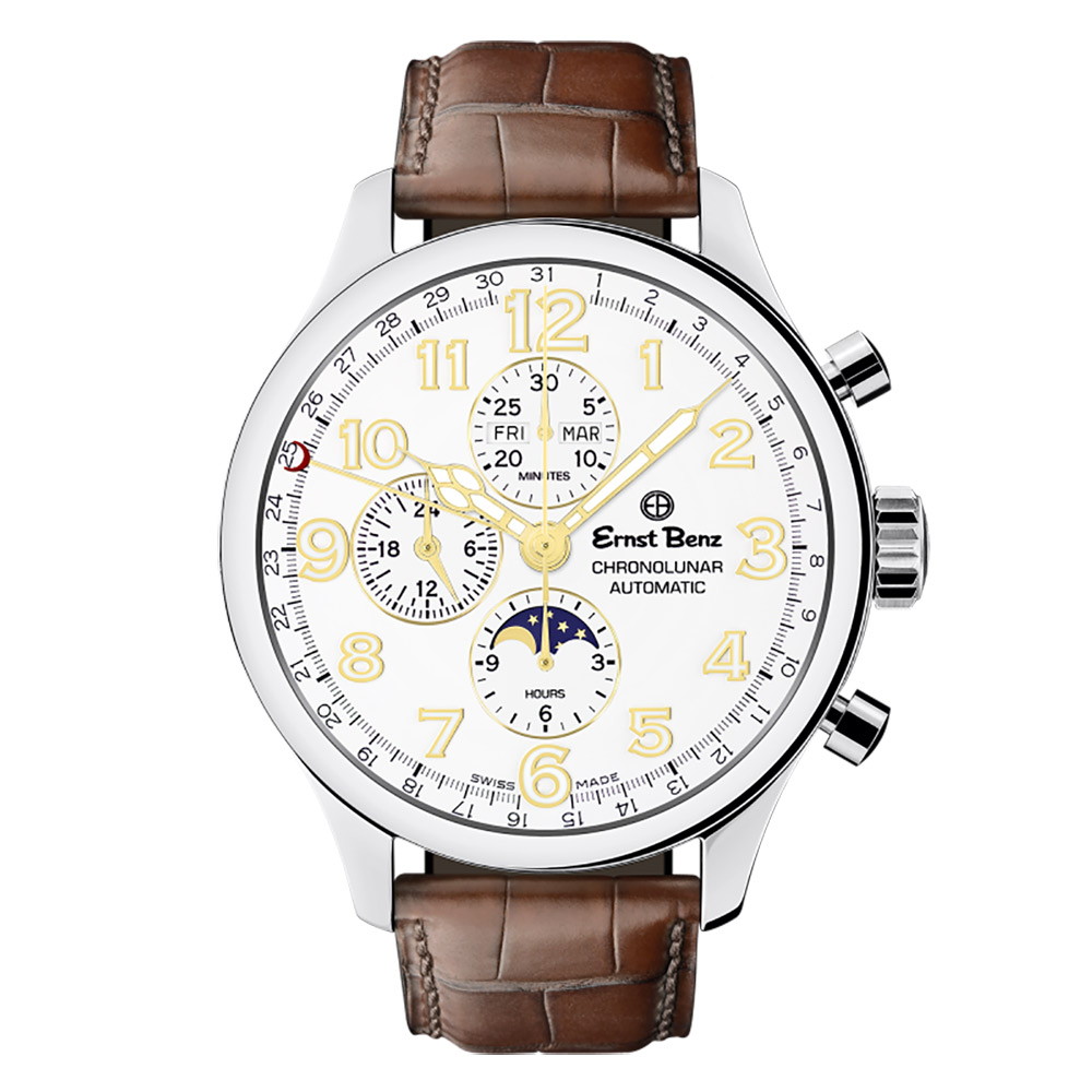 Ernst Benz Chronolunar Officer GC10384