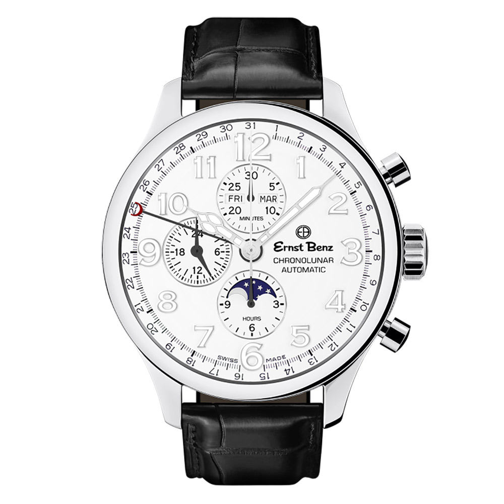 Ernst Benz Chronolunar Officer GC10382