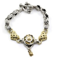 Saint by Sarah Jane Citrine Turtle & Heart Bracelet in Silver & 18K Yellow Gold