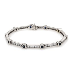 Sapphire and Diamond Bracelet in Gold
