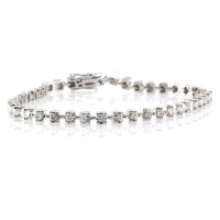 14K Diamond Tennis Bracelet