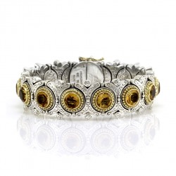 Konstantino Sterling Silver and Gold Bracelet with Citrine