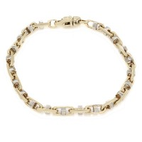 Gentlemans Mariner Chain Bracelet in Gold