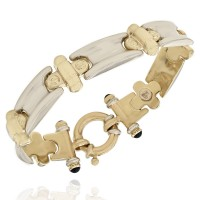 Screw Link Bracelet in Gold