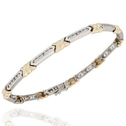 Diamond X Bracelet in Gold