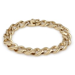 Curb Link Chain Bracelet in 14K