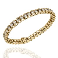 Diamond Scalloped Inline Bracelet