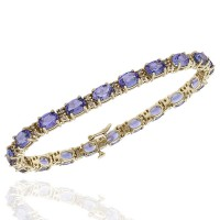 Tanzanite and Diamond Inline Bracelet