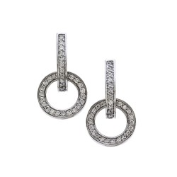 Movado Pave Diamond Earrings in Gold