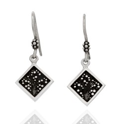 Lois Hill Square French Wire Dangle Earrings