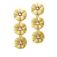 Nanis Amarcord Collection Diamond Drop Earrings in 18K Yellow Gold
