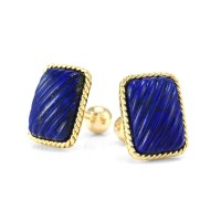 Tiffany & Co. Lapis Cufflinks in Gold