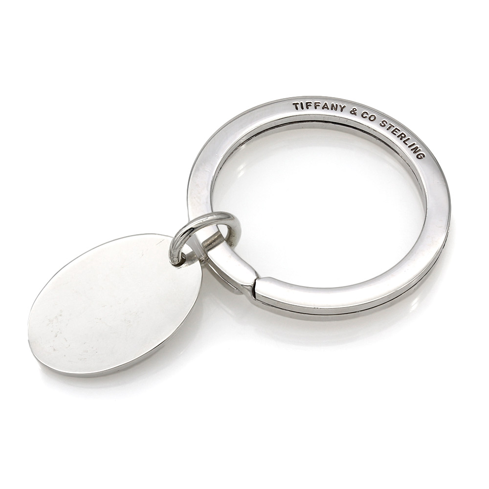 Tiffany & Co. Oval Tag Key Ring in Silver