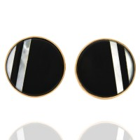 Black Onyx and Mother of Pearl Cufflinks