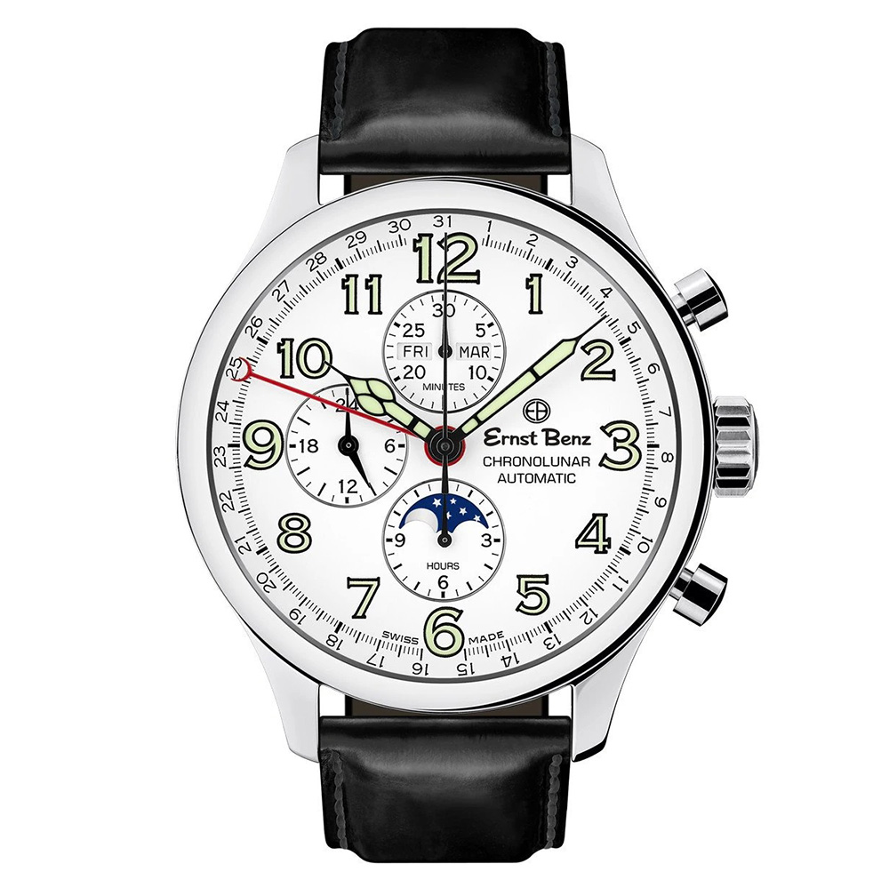 Ernst Benz Chronolunar Officer GC40382
