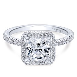 Gabriel & Co. Amavida Pave Diamond Engagement Ring Mounting in Gold