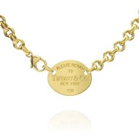 Tiffany & Co. Return to New York Gold Necklace