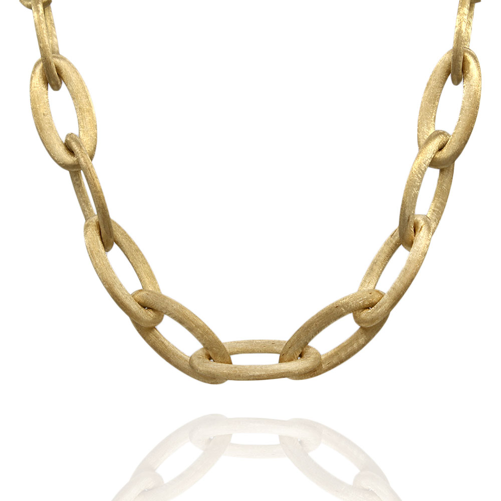Nanis Olga Oval Link Necklace in Gold