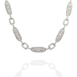 Vintage Style Diamond Necklace in Gold