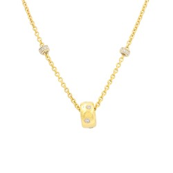 Aaron Basha Diamond Station Necklace in Gold