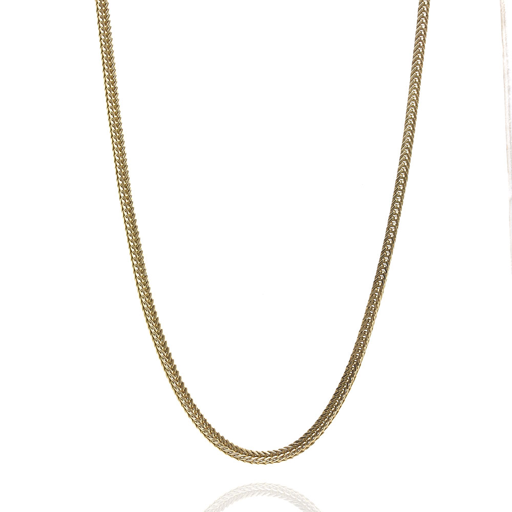 Gold Foxtail Chain Necklace