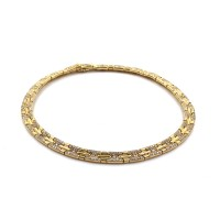 Bvlgari Parentesi Pave Diamond Necklace in Gold