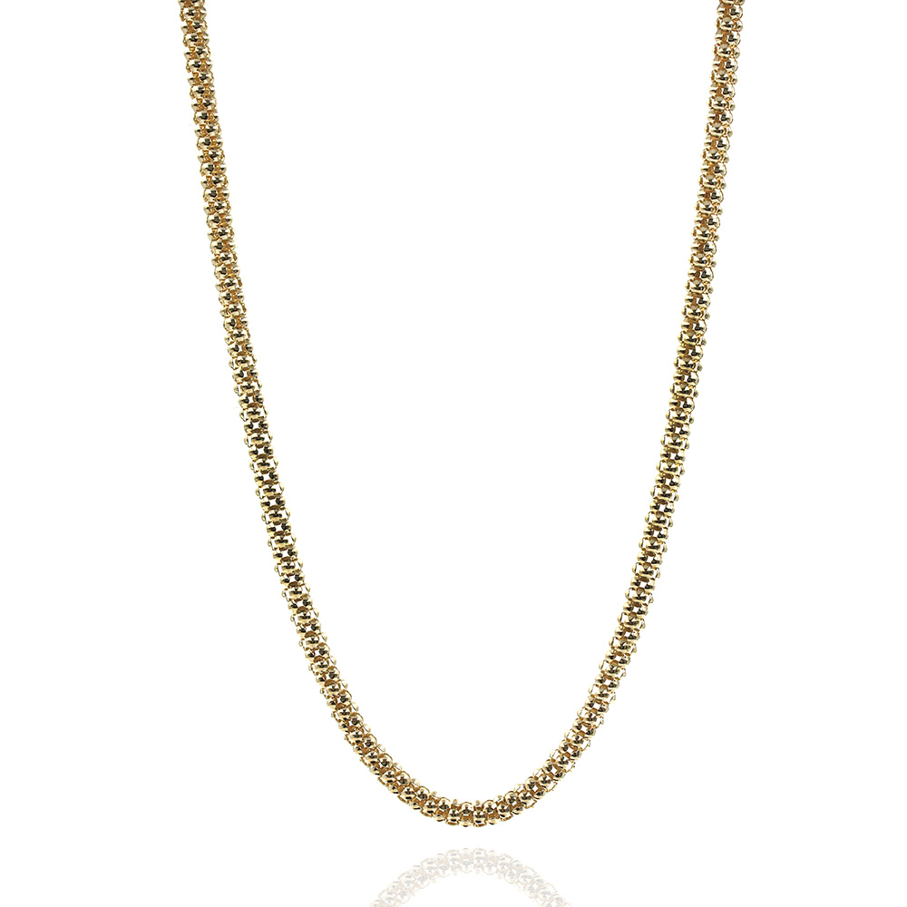 Gold Popcorn Chain Necklace