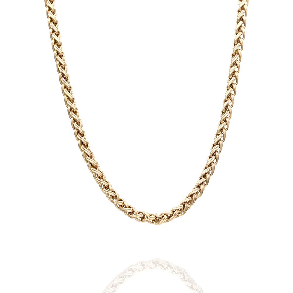 Woven Chain Necklace in Gold