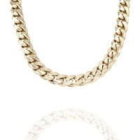 Curb Link Necklace in Gold