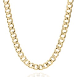 Curb Link Chain Necklace in Gold