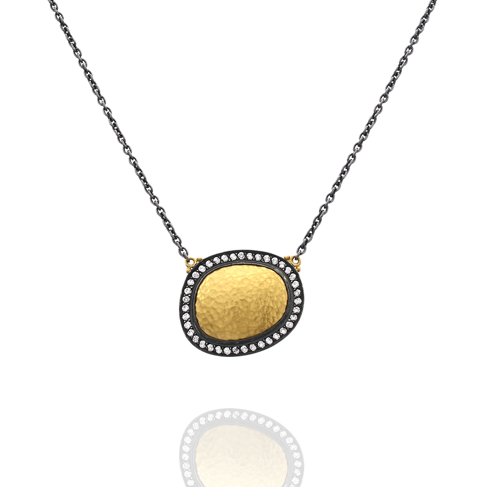 Lika Behar Reflections Necklace in Silver and Gold
