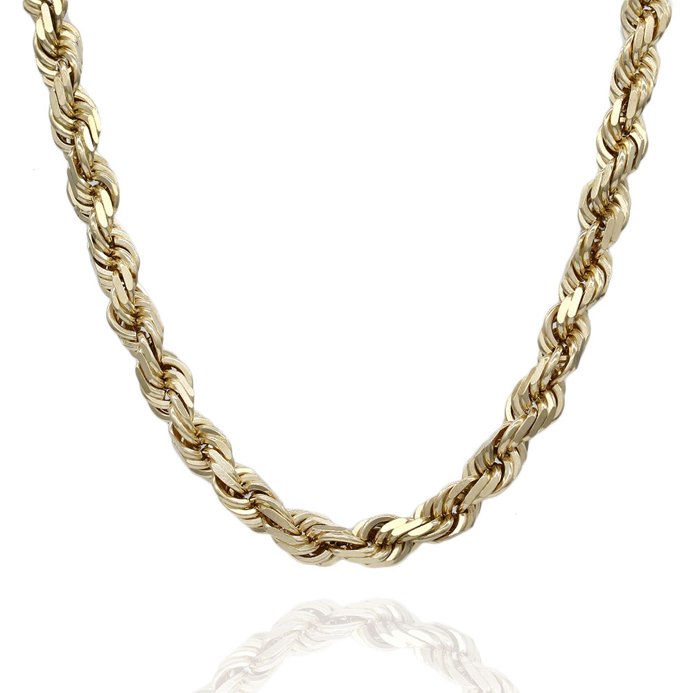 Rope Chain Necklace in Gold