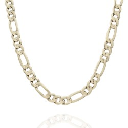 10KY Figaro Chain Necklace 20 In