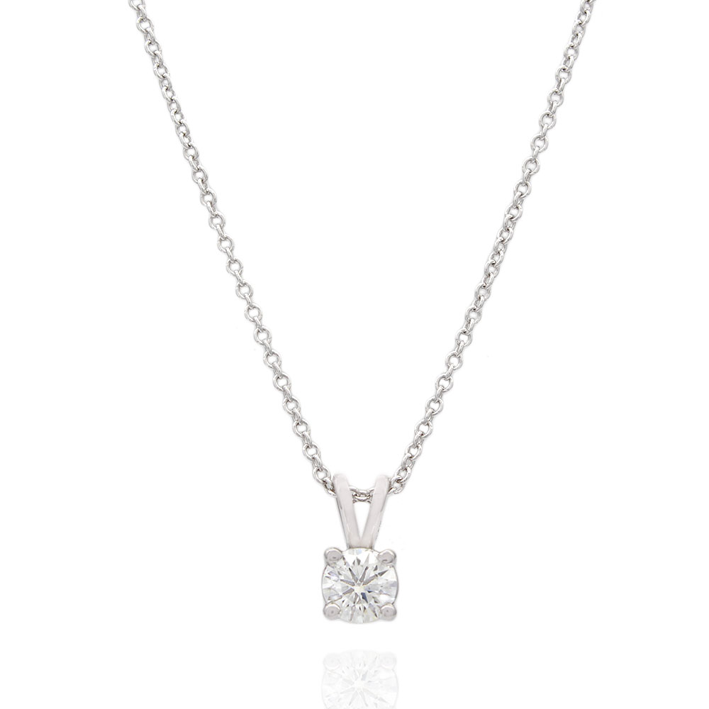 .46ct Round Diamond Solitaire Pendant in 14kw