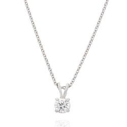 .42ct Round Diamond Solitaire Pendant in 14kw
