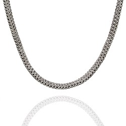 John Hardy Classic Wheat Chain Necklace in Silver and Gold