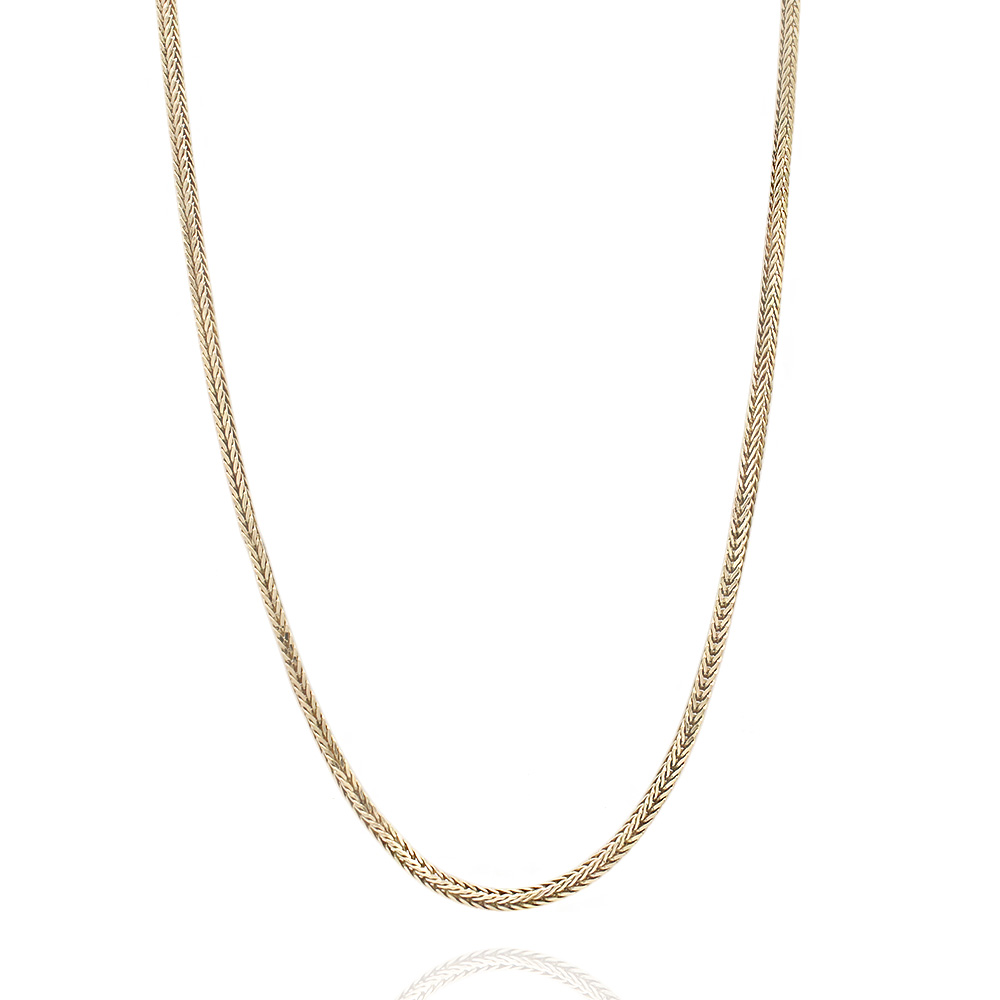 Foxtail Box Chain Necklace