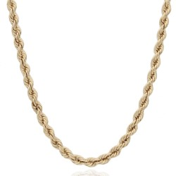 Bright Cut Rope Chain Necklace