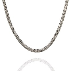 John Hardy Classic Wheat Chain Necklace in Silver