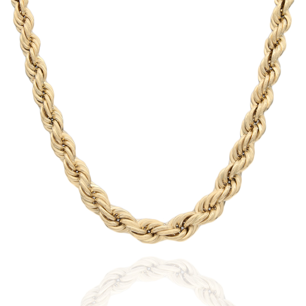 Graduated Rope Chain Necklace