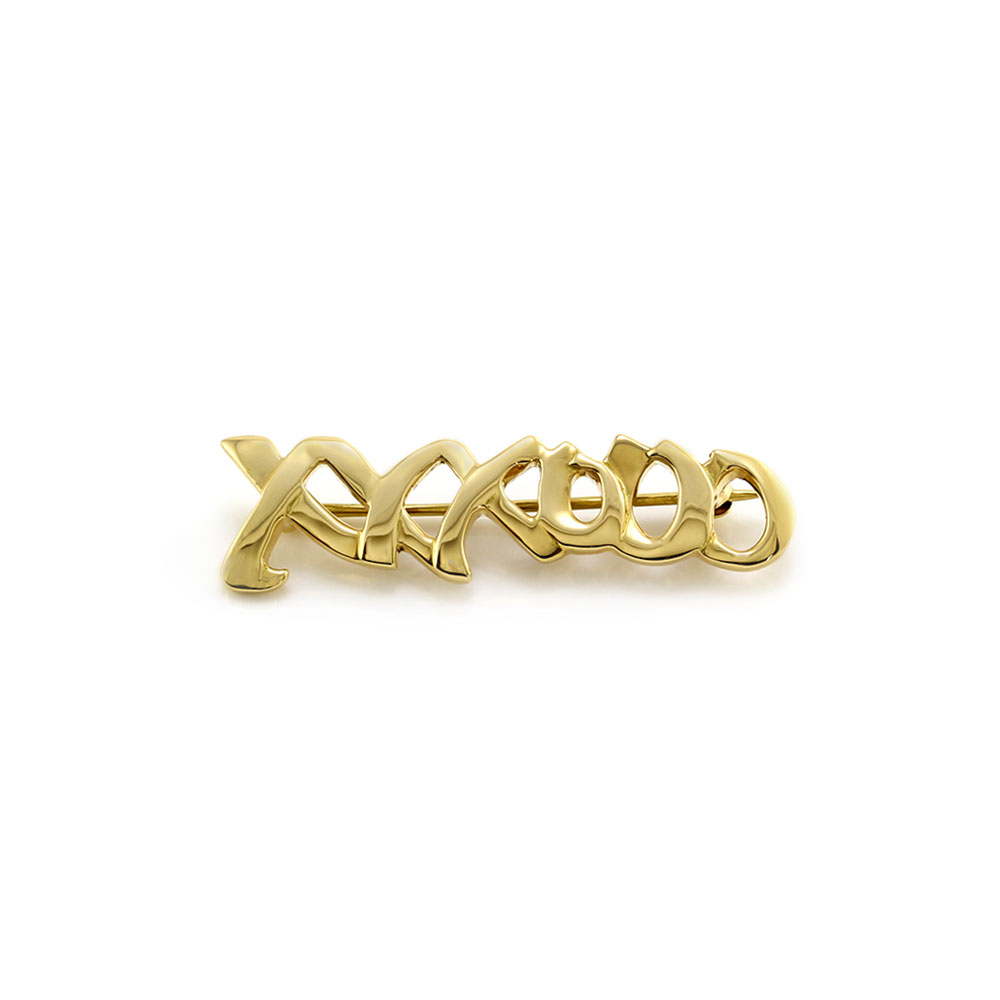 Tiffany & Co. Paloma Picasso Love and Kisses Gold Brooch