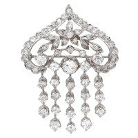 Five Strand Diamond Brooch in Gold