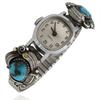 Navajo Sterling Silver & Turquoise Watch Bands