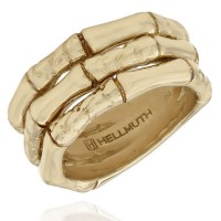 Gert Helmuth 18KY Croc and Bamboo Ring