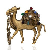 Joseff of Hollywood Jeweled Camel Brooch
