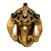Joseff of Hollywood Jeweled Elephant Brooch