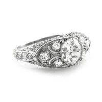 Antique European Diamond Ring Mounting in Platinum