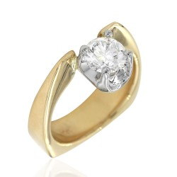 Diamond Solitaire Engagement Ring in Gold